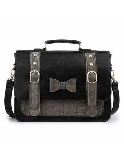 Women Vintage Faux Leather Messenger Shoulder Satchel Weekender Fashion Bag