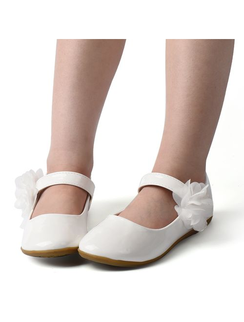 Nova Utopia Toddler Little Girls Dress Ballet Mary Jane Bow Flat Shoes