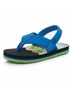 Boys Flip Flops Sandals with Back Strap for Toddler/Little Kid/Big Kid