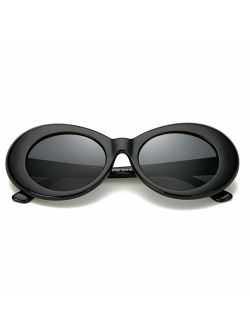 FOURCHEN Clout Goggles Sunglasses for kids Bold Retro Oval Round Lens