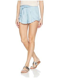 Women's Bleached Ruffle Short