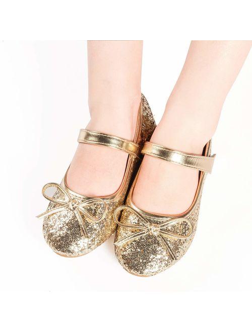 Nova Utopia Toddler Little Girls Ballet Flat Shoes