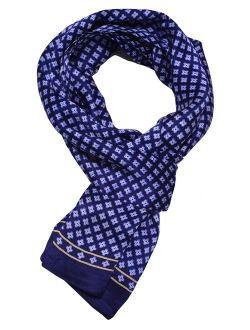 "Ellettee, 63"" x 11"" Man's 100 Pure silk scarf wrap Accessory gift"