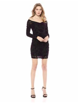Women's Long Sleeve Amber Ruched Dress
