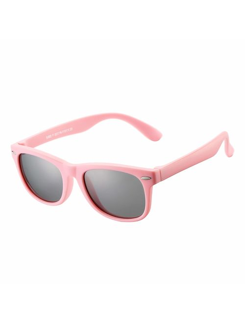 AZORB Kids Polarized Sunglasses TPEE Rubber Flexible Frame for Boys Girls