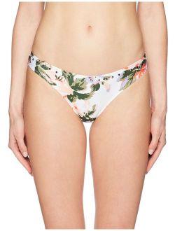 Women's Studded Floral Brief Bikini Bottom
