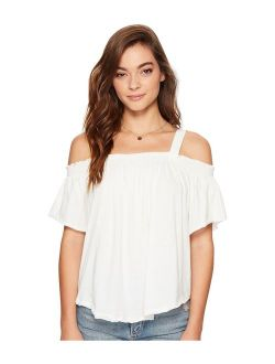 We The Free Womens Ruffled Off-The-Shoulder Casual Top
