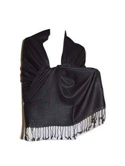 SCARF_TRADINGINC Large Soft 100% Twill Pashmina Scarf Shawl Wrap