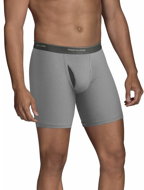 Fruit of the Loom Solid ElasticWaits No Ride Up Boxer Brief