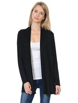 Pastel by Vivienne Women's Long Sleeve Jersey Cardigan (25+ Colors/S-XL)