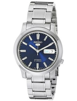 5 Men's Snk793 Automatic Stainless Steel Watch With Blue Dial