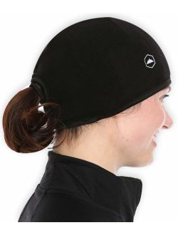 Tough Headwear Helmet Liner Skull Cap Beanie with Ear Covers. Ultimate Thermal Retention and Performance Moisture Wicking. Fits Under Helmets.