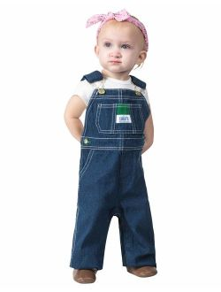 Kidscool Baby /& Little Boys//Girls Water Washed Ripped Soft Denim Overalls