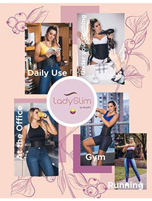 Details about  /LadySlim by NuvoFit Lady Slim Fajas Colombiana Latex Waist Trainer Cincher Trimm
