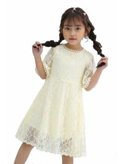 Youwon Flower Girls Dress Lace Dress Vintage Country Wedding Party Dress 2-6 7-16