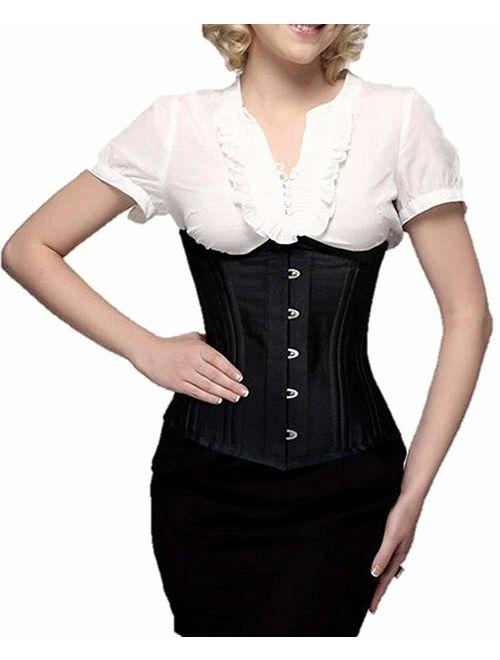 SHAPERX Womens Steampunk Gothic Steel Boned Underbust Waist Training Corsets