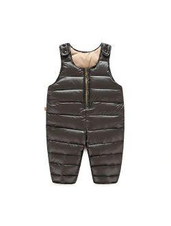 Tortor 1Bacha Baby Toddler Little Boys' Winter Puffer Snow Bib Overall Pants