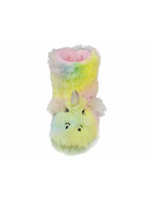 Tirzrro Girls/Kids Cute Unicorn Slippers with Warm Plush Fleece Indoor Outdoor Slip-on Booties
