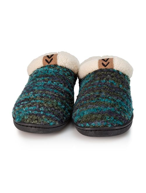 Pupeez Girls Knitted Fleece Lined Clog Slippers