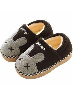 Cute Animal Memory Foam Slide Slippers Boots Non Slip Boys Girls Little Kids Toddler House Shoes
