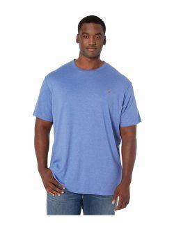 Men's Cotton Solid Pony Logo Crew Neck T-shirt