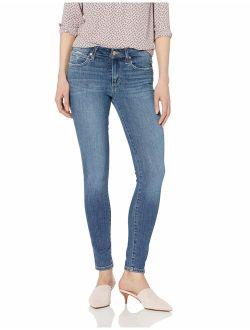 Women's Icon Midrise Skinny Ankle Black Distressed Jean