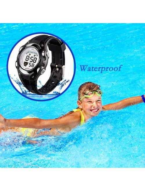 Kids Watches Digital Sport Watches Boys Girls Watches Waterproof Outdoor Children Electronic Wrist Watches with Alarm Stopwatch Toddler Digital Watch LED Lights for 3-12