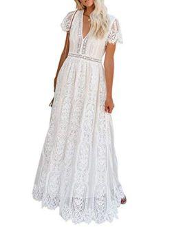 Lovezesent Womens Elegant Sequin Tassel Sleeve Bodycon Cocktail Embellished Party Midi Dress