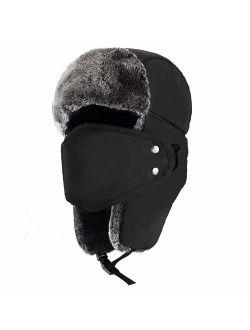 mysuntown Winter Hat for Men and Women Trooper Hunting Hat Ushanka Hat with Ear Flaps Windproof Warm Hat