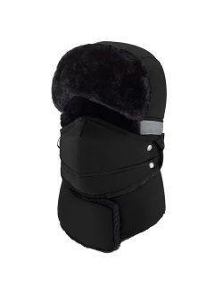 mysuntown Winter Hat for Men and Women,Windproof Warm Hat & Trapper Ushanka Hat for Outdoor Skiing Sport