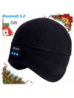 Bluetooth Beanie, Men's Gifts, Bluetooth Music Cap, Bluetooth Beanie Hat with Stocking Stuffers Stereo Mic, Fit for Outdoor Sports, Washable-Gifts-for-Men-Women-Christmas
