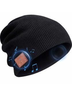 Beanie Hat Bluetooth Headphones, Wireless V 5.0 Knit Music Beanie