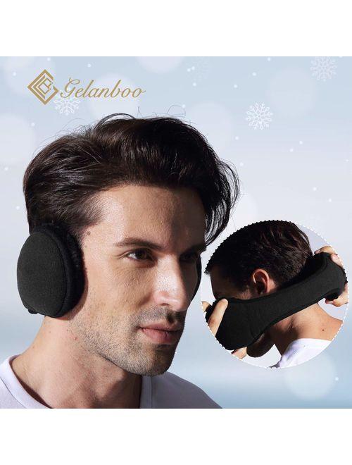 Gelanboo Unisex foldable ear warmer earmuffs for men women fleece Winter Accessory Outdoor