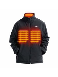 Lightweight Heated Vest for Men with Neck Warmer Included 7.4V Battery Pack PTAHDUS Mens Heated Vest