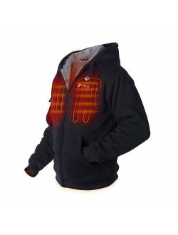 Venture Heat Heated Hoodie with Battery Pack - Electric Sweater Jacket for Men Women, Thick Fleece, Transit 2.0