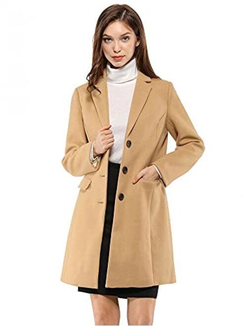 Allegra K Womens Winter Fall Zip Up Jacket Drawstring Waist Casual Coat