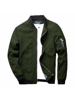sandbank Men's Slim Fit Lightweight Softshell Flight Bomber Jacket Coat