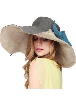MaitoseTM Women's UV Sun Protection Beach Wide Brim Fishing Hat