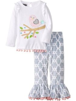 Mud Pie Baby Girl Two Piece Playwear Set Long Sleeve