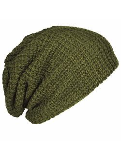 FORBUSITE Mens Slouchy Long Beanie Knit Cap for Summer Winter, Oversize