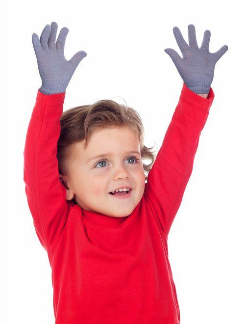 Small Kids Gloves Full Fingers Knitted Gloves Warm Mitten Winter Favor for Little Boys and Girls