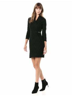 Women's Long Sleeve Cross Front Sweater Dress