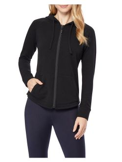 360Air Women's Athleisure Soft Fleece Full Zip Hoodie (Faux Cashmere)
