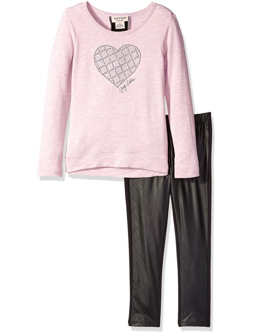 Juicy Couture Girls' High-Low French Terry Tunic and Pant Set