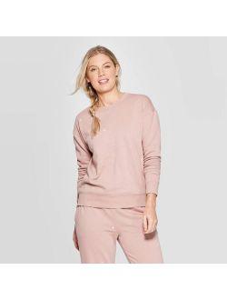 Eve Crewneck Embroidered Sweatshirt - Universal Thread Pink