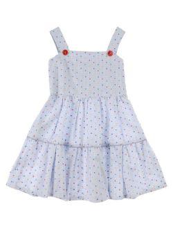 NWT Authentic Fendi Blue Sleeveless Girl's Dress (Size 6)