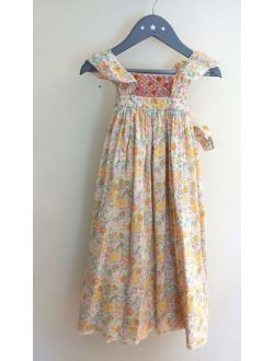 4T Bonton Smocked Summer Dress French Luxury design RARE Beautiful