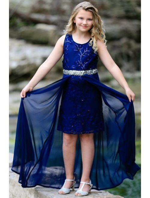 Hannah High Low Chiffon Dress