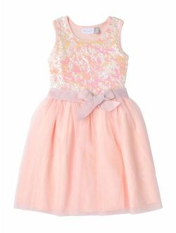Girls 4-16 Sequin Holiday Party Dress