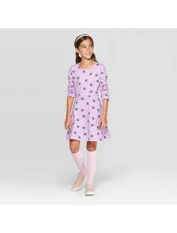 Knit Long Sleeve Dress - Cat & Jack™ Purple